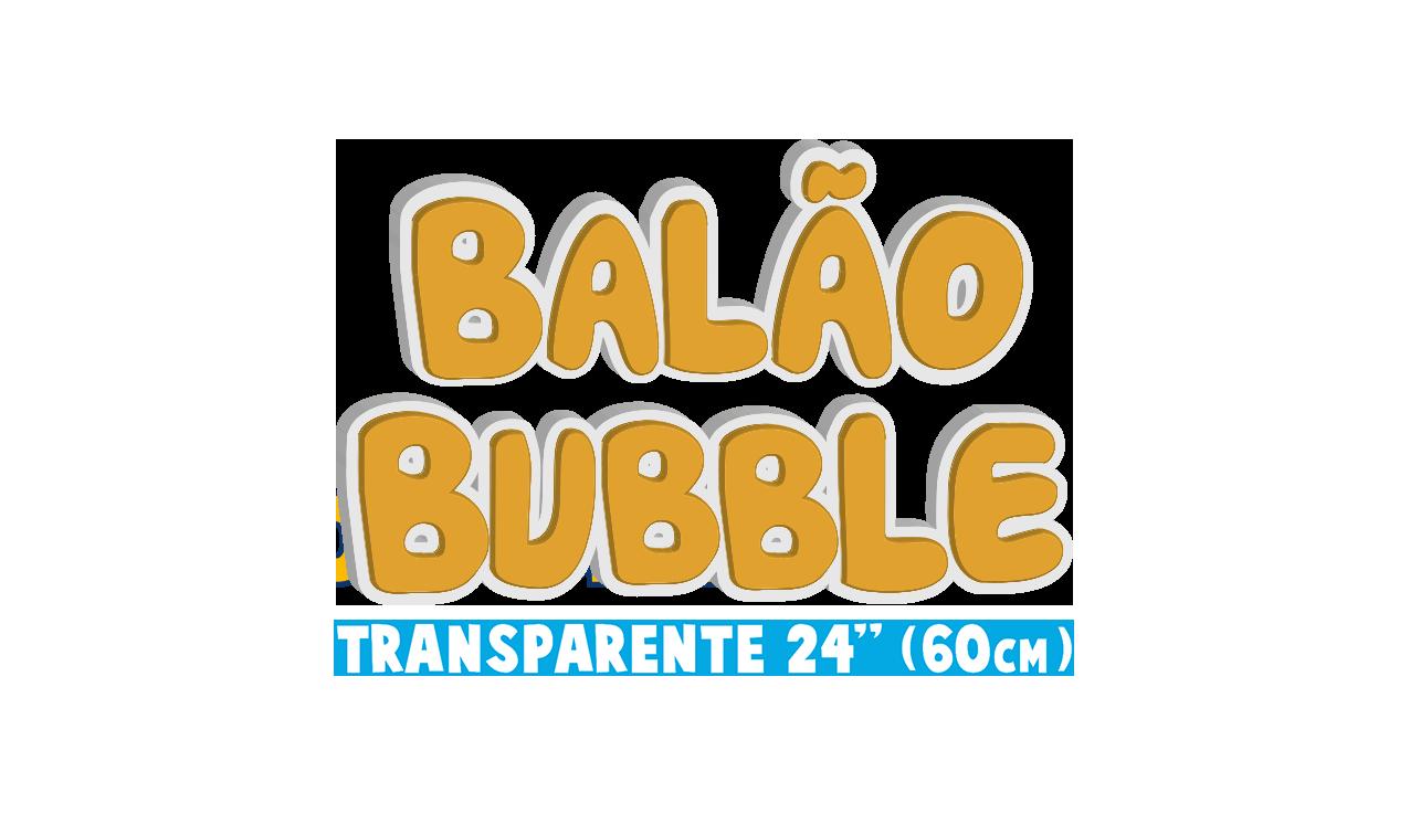 Balão Bublle - Transparente 24 pol - 60cm