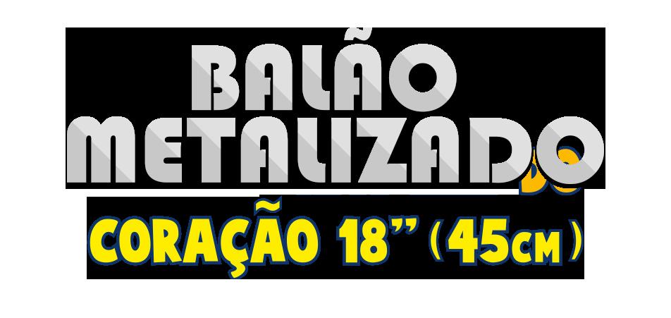 Balão Metalizado - Coração 18 pol - 45cm
