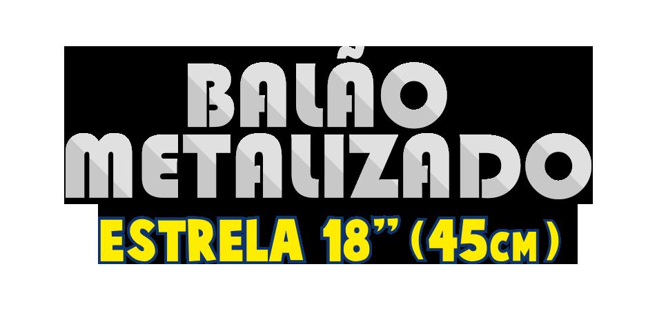 Balão Metalizado - Estrela 18 pol - 45cm