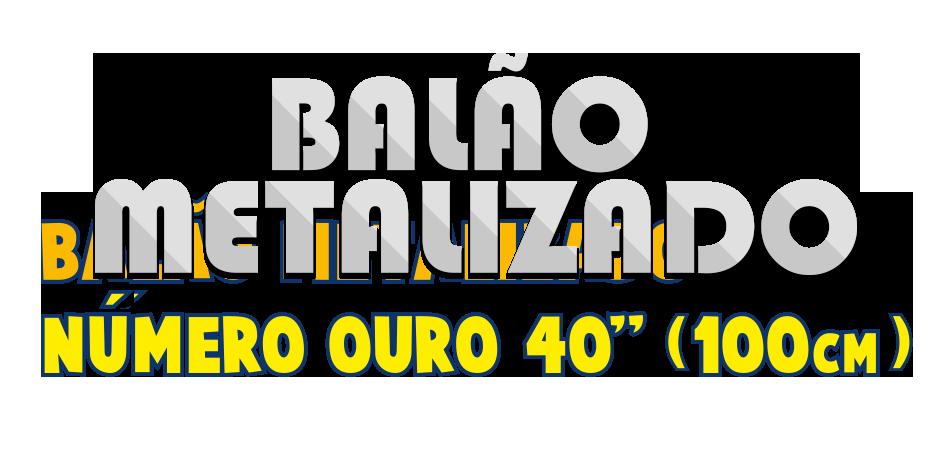 Balão Metalizado - Letra Prata 40 pol - 100cm